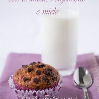 Muffin alla ricotta con arancia, bergamotto e miele