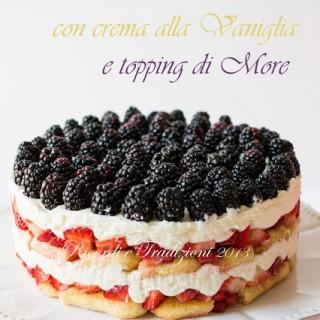 Trifle di fragole con crema alla vaniglia e topping di more  . . . e new look blog!