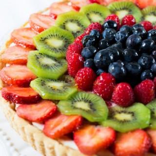 Chees-Crostata alla frutta con crema di ricotta al bergamotto
