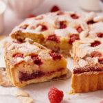 Bakewell Tart – Crostata con crema frangipane  e lamponi